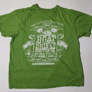 Margaritaville Unisex TShirt Cotton Lime Green L